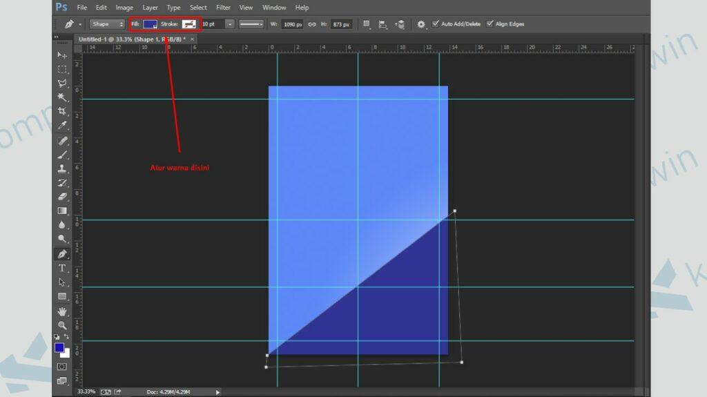 Ubah Warna pada Bentuk - Cara Membuat Poster di Photoshop