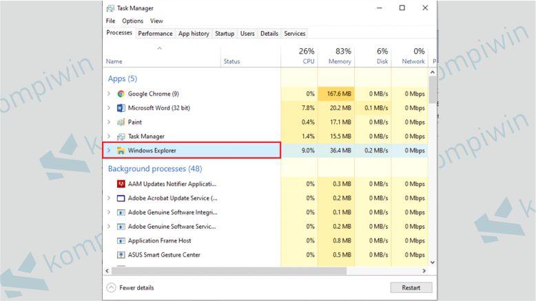 Cari Windows Explorer