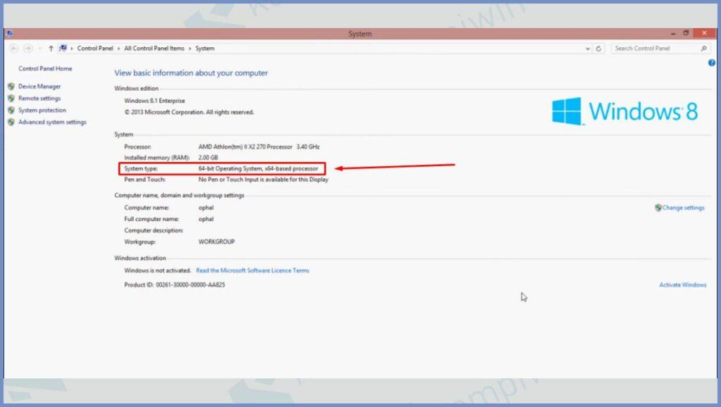 Detail Informasi Bit Windows 8