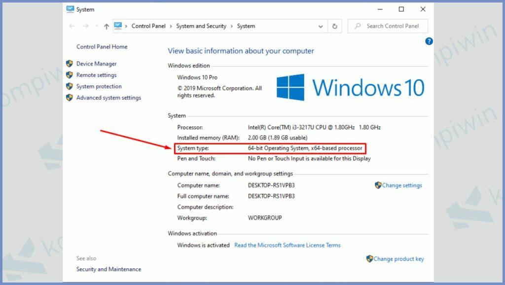 Detail Informasi Komputer di Windows 10