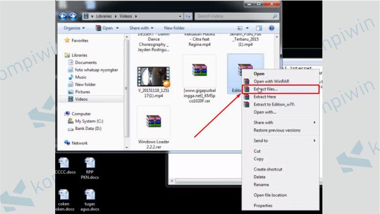 Ekstrak File Windows Extreme yang Sudah Didownload