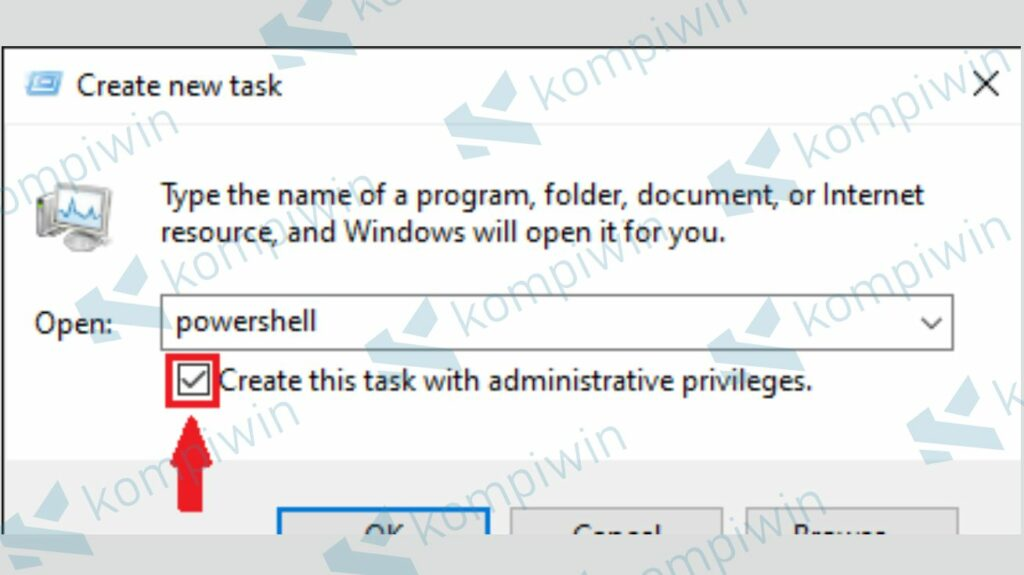Jalankan Powershell - Cara Mengatasi Tombol Start Hilang di Windows 10