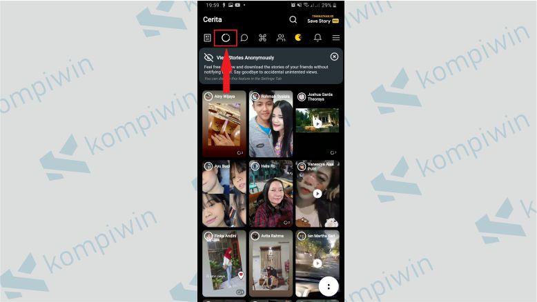 Klik Menu Lingkaran untuk Melihat Story Facebook Tanpa Diketahui