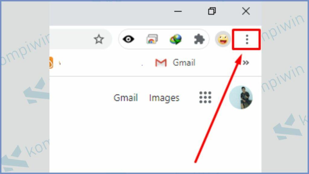 Klik ikon titik tiga (pojok kanan atas)