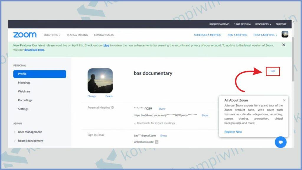 Klik menu Edit