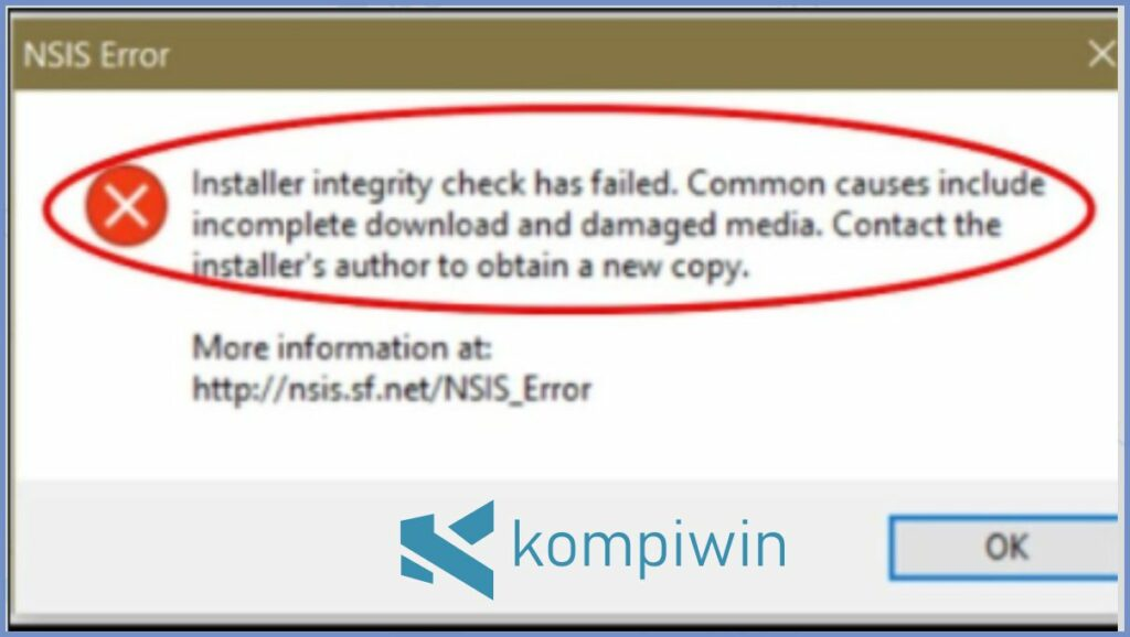 Notifikasi NSIS Error