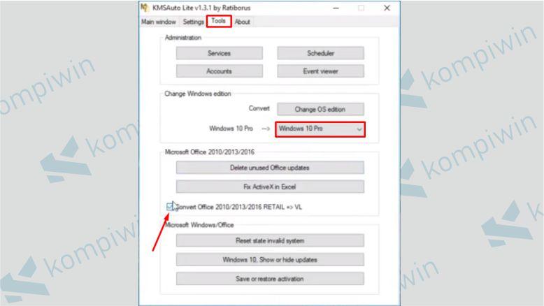 Pilih Menu Tools dan Klik Convert Office