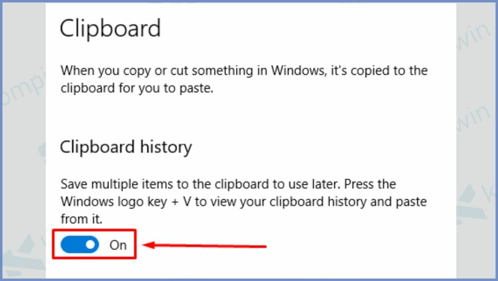 Aktifkan Clipboard history