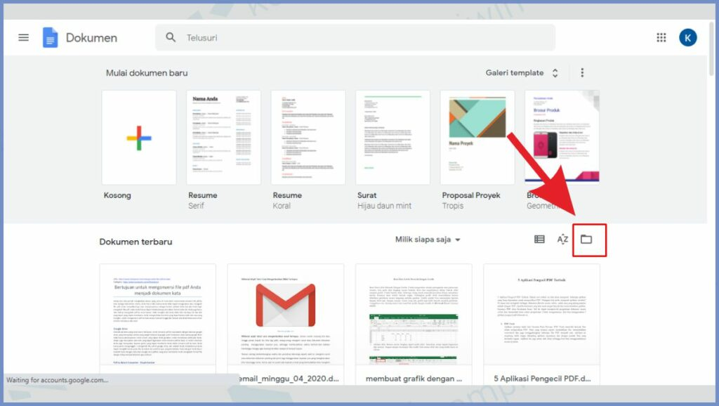 Klik ikon gambar folder