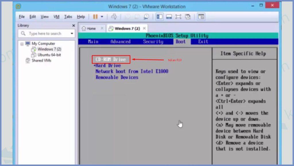 Pilih CD-ROM Drive