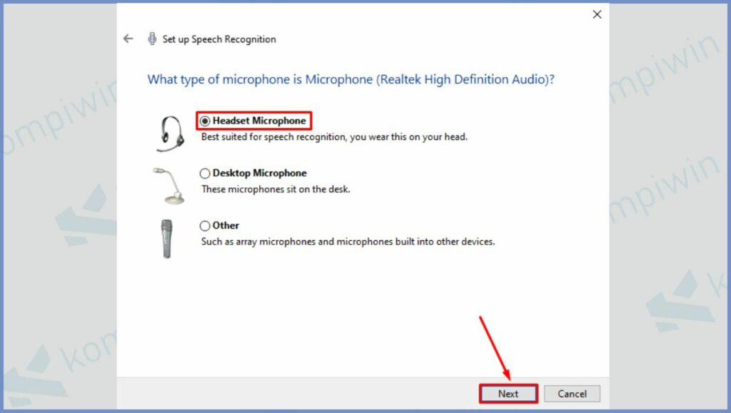 Pilih Microphone