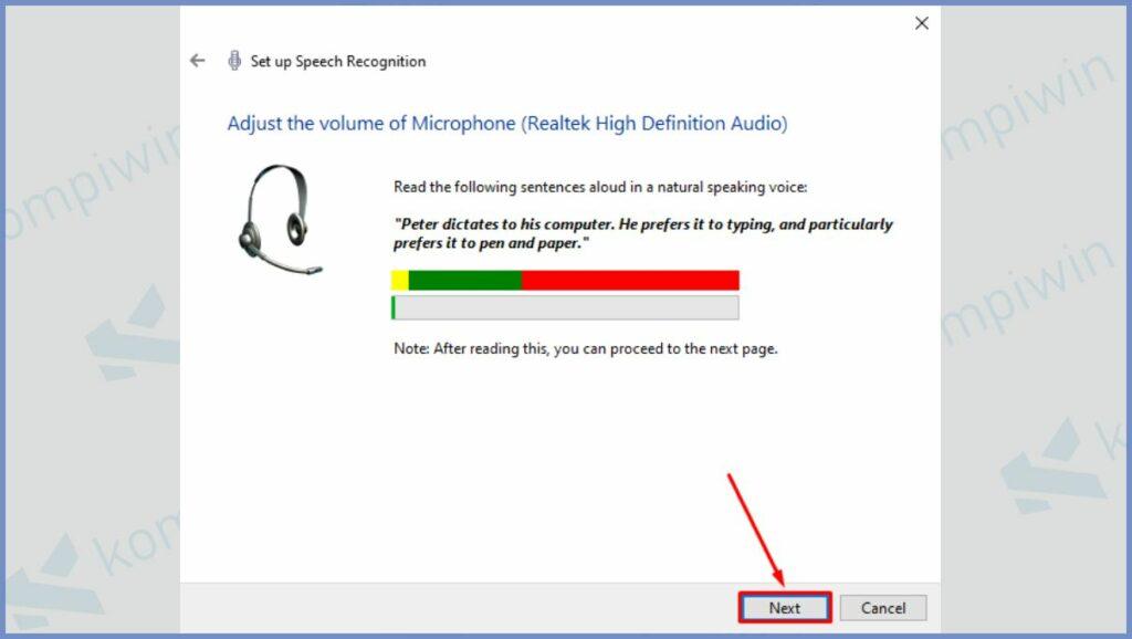 Silahkan Ucapkan untuk Mengetes Microphone