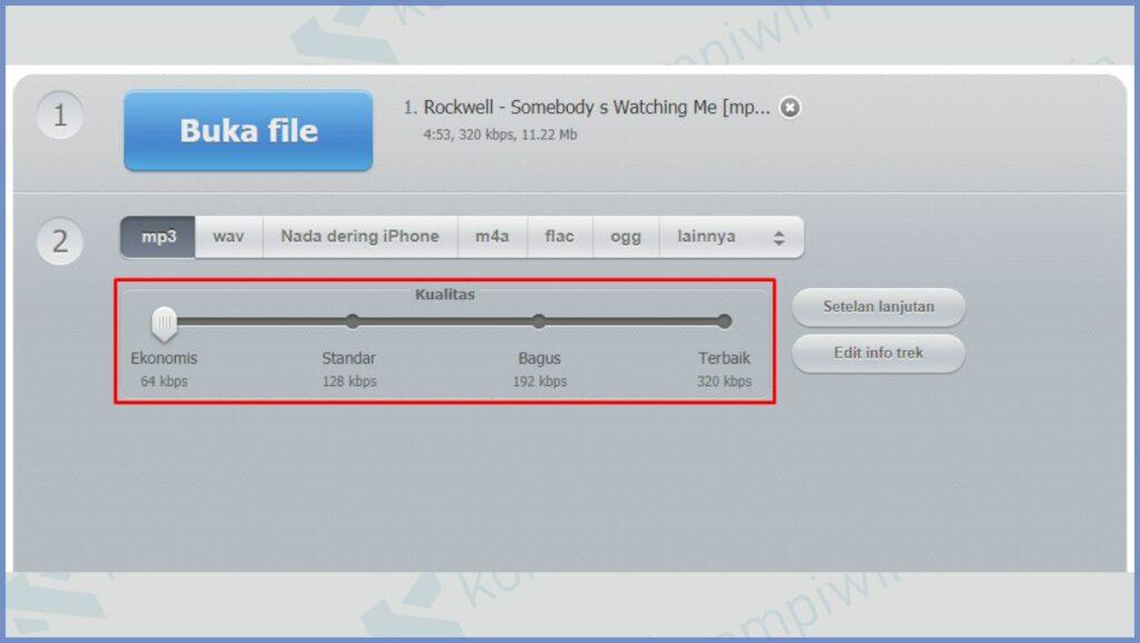 Ubah Kualitas File Audio