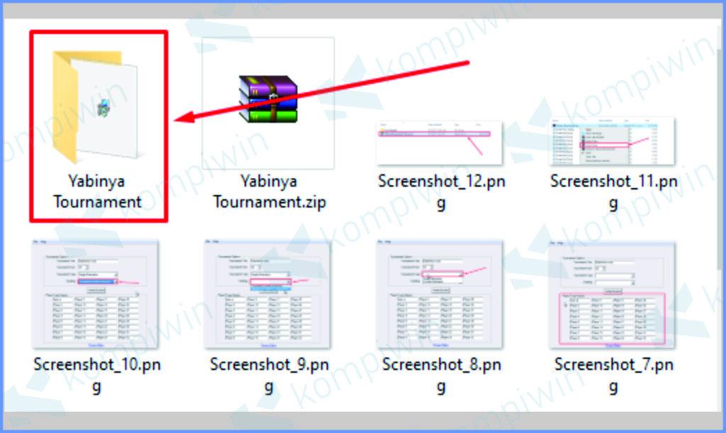 Buka Folder Hasil Ekstrak