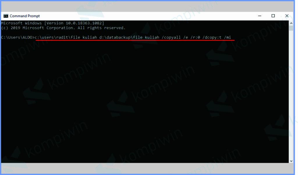 Perintah Untuk Melakukan Backup Otomatis