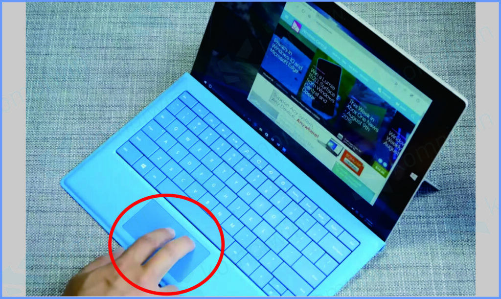 Gestur Dua Jari Touchpad