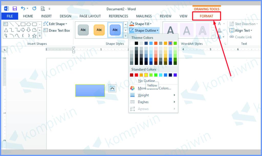 Edit Menggunakan Menu Format