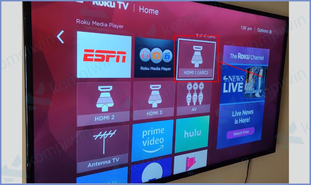 Ubah Intup TV Menjadi HDMI