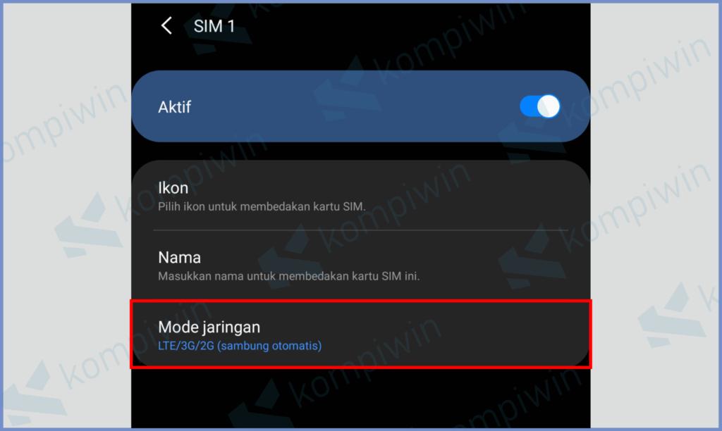 Pilih Mode Jaringan