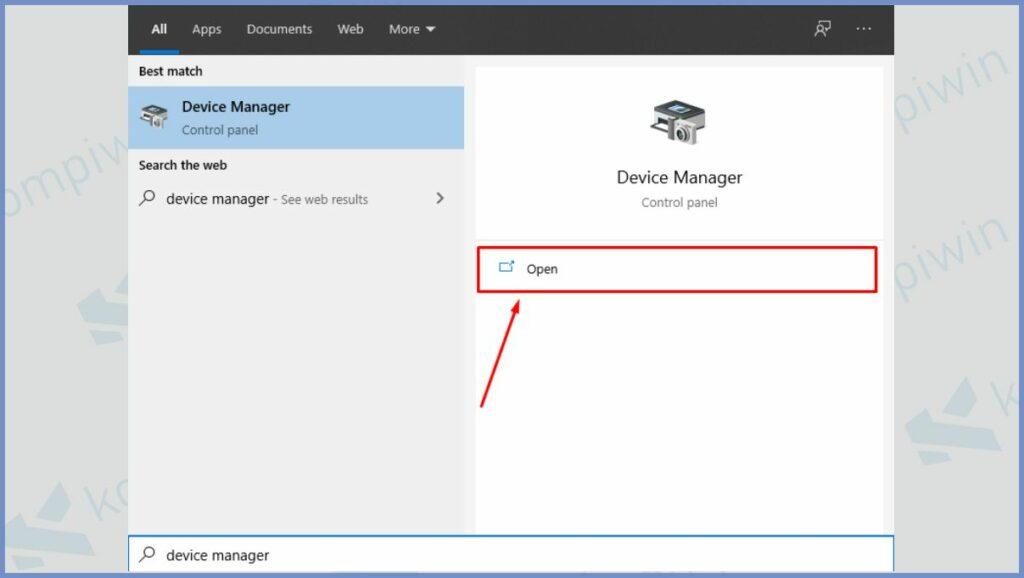 Buka Device Manager