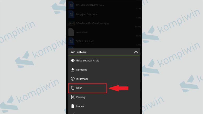 Copy File secureNew -