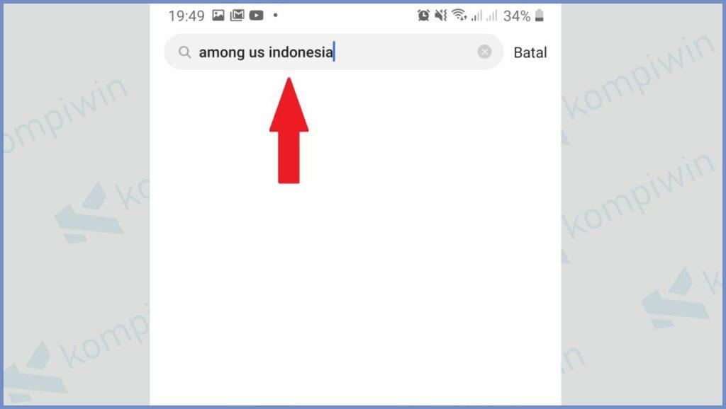 Ketikkan among us indonesia