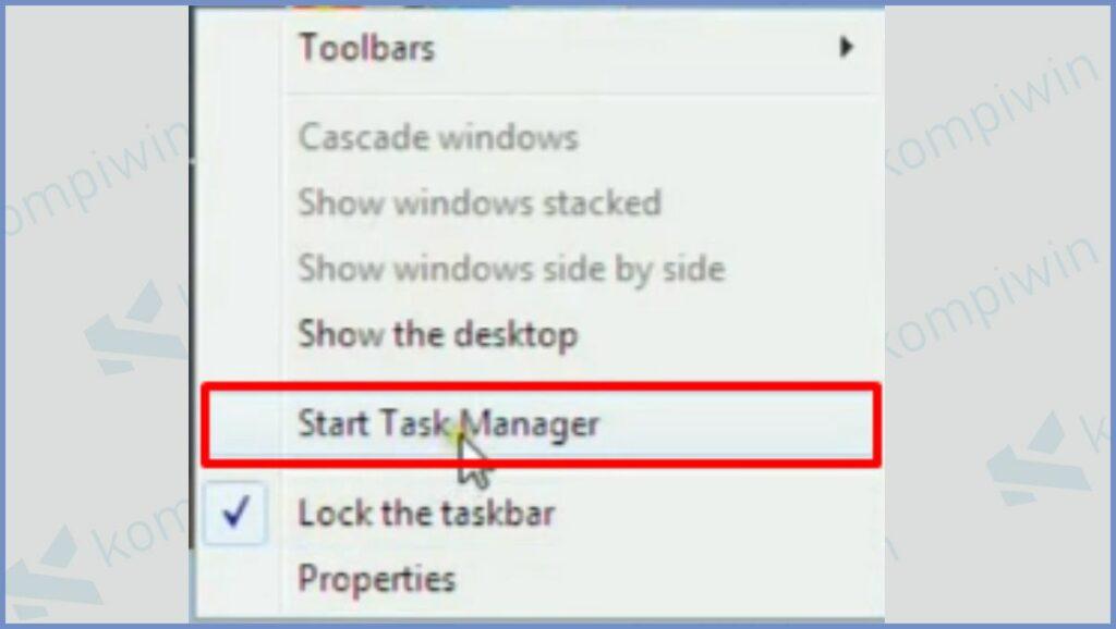 Klik Start Task Manager