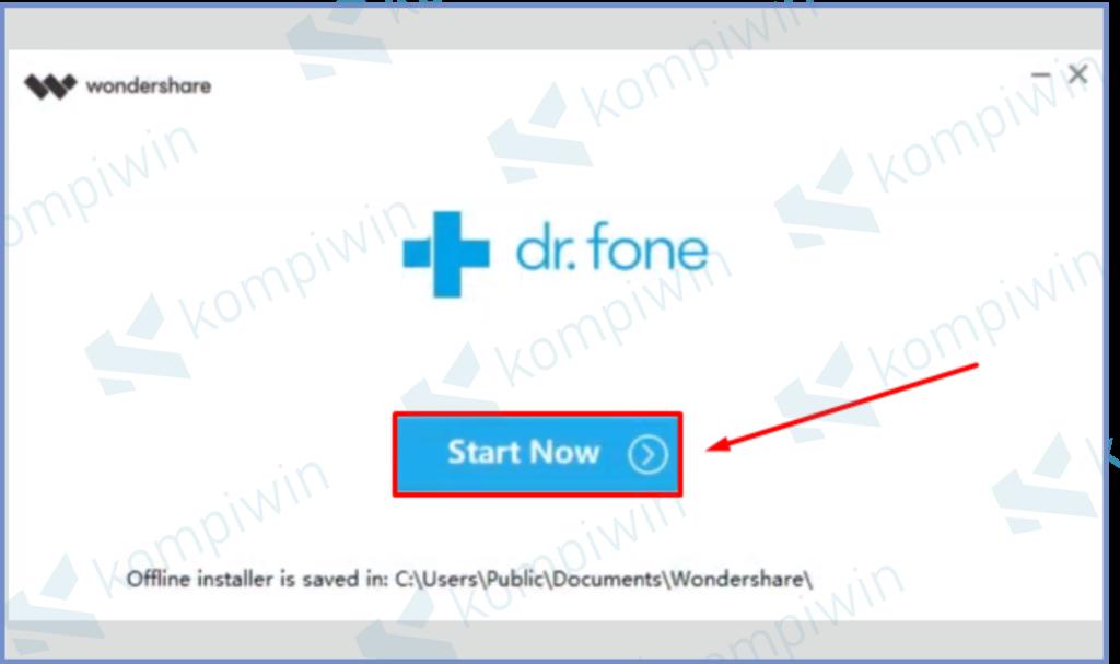 Klik Start Now Untuk Memulai Aplikasi