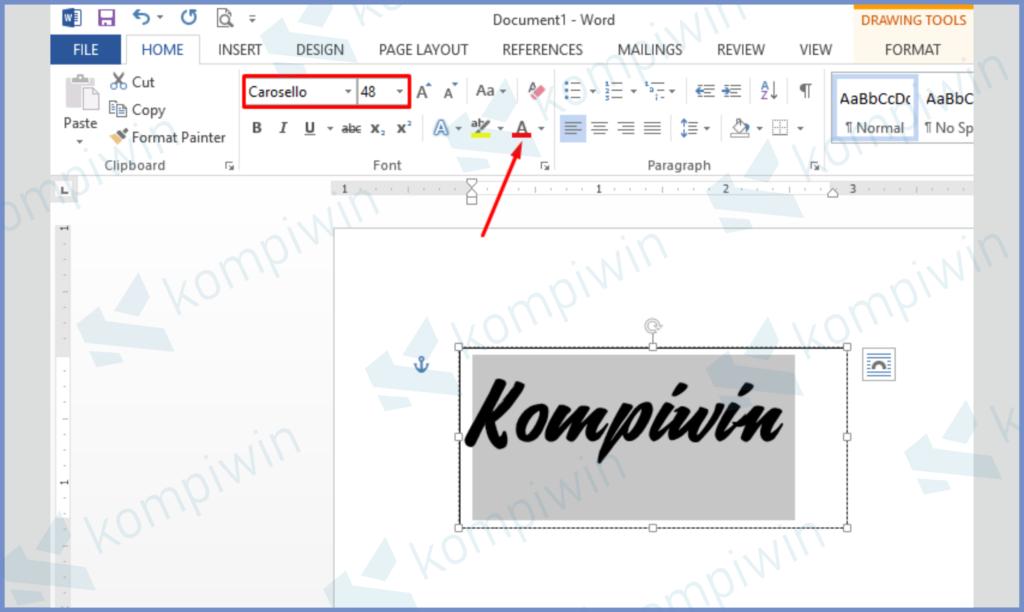 Sesuaikan Font dan Ukuran Terlebih Dahulu
