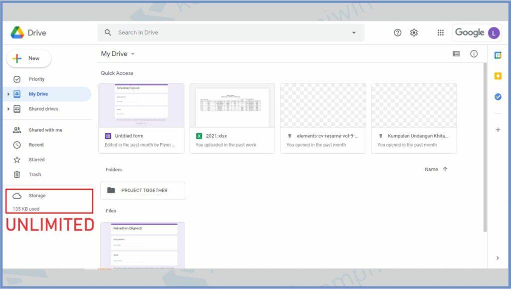 Akun Google Unlimited - Cara Membuat Google Drive Unlimited