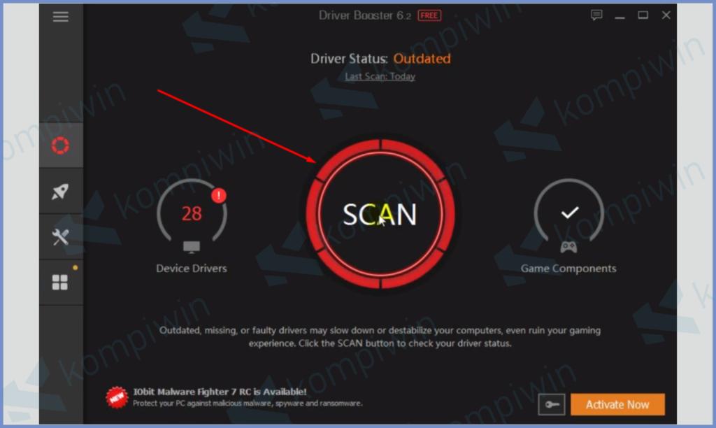 Buka Aplikasi dan Klik Tombol Scan