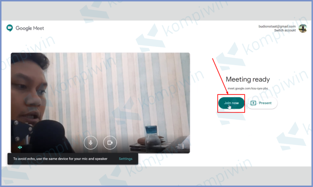Buka Google Meet Lalu Tekan Join Now