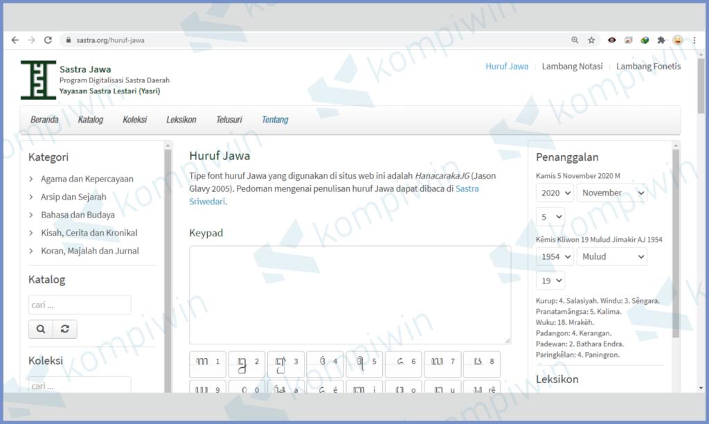 Buka Website Aksara Jawa