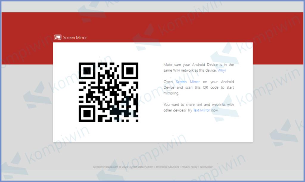 Buka Website Screen Mirror