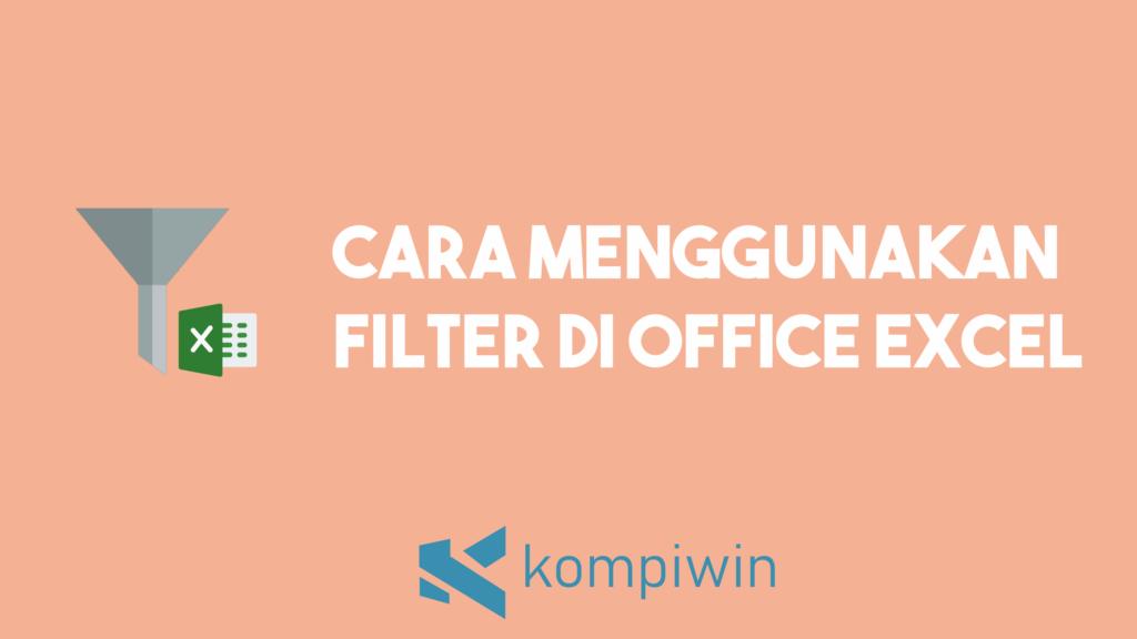 Cara Filter Di Excel 1
