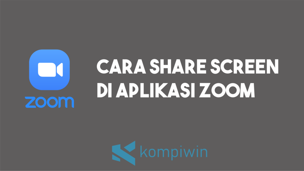 Cara Share Screen Zoom 1