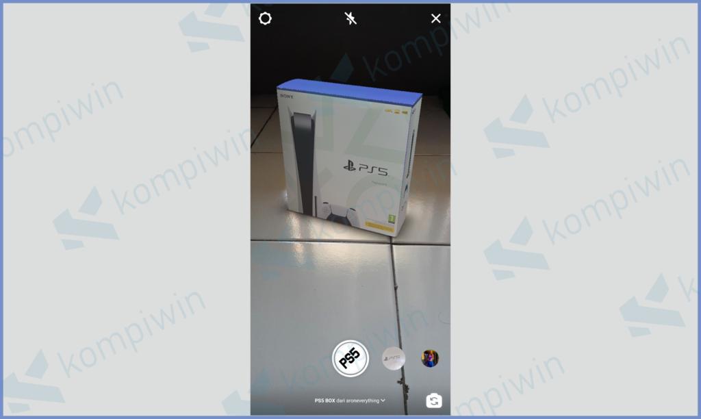 Hasil Menggunakan Filter PS5
