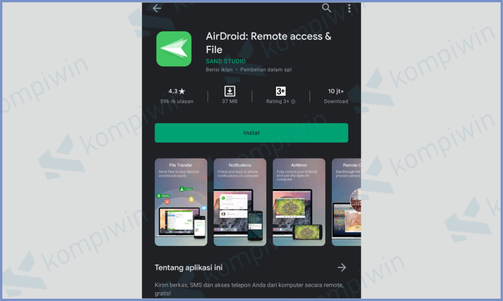 Install Aplikasi AirDroid