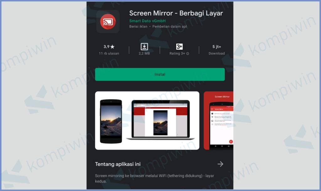 Install Aplikasi Di HP Screen Mirror