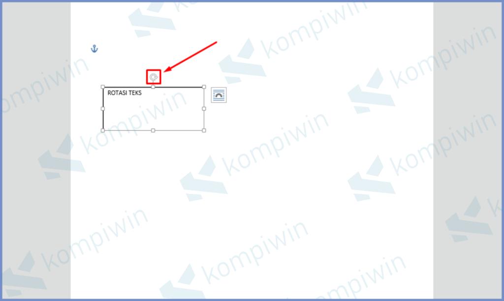 Ketuk Text Box Sampai Muncul Icon Rotasi