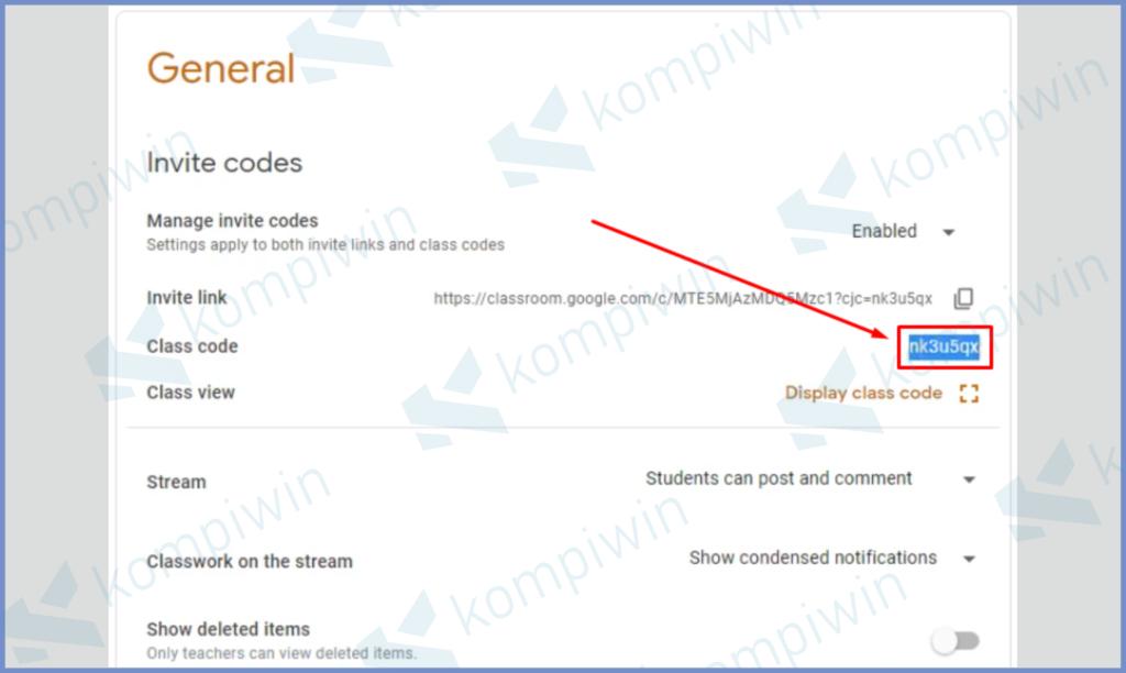 Cara Mengetahui Kode Kelas Google Classroom