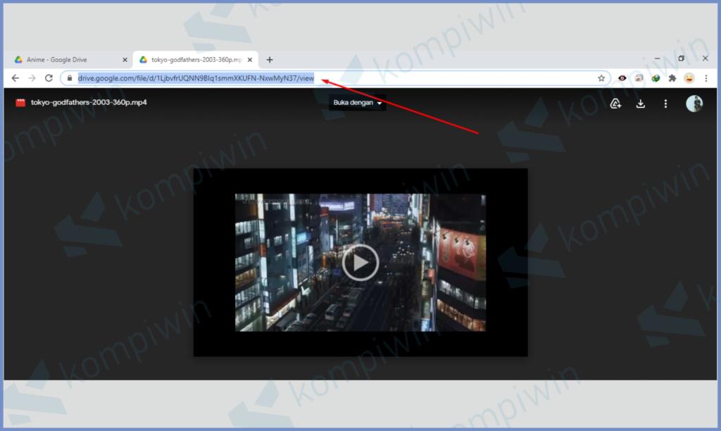 Paste Link Di Kotak URL