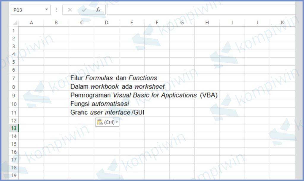 Siapkan Data Di Excel