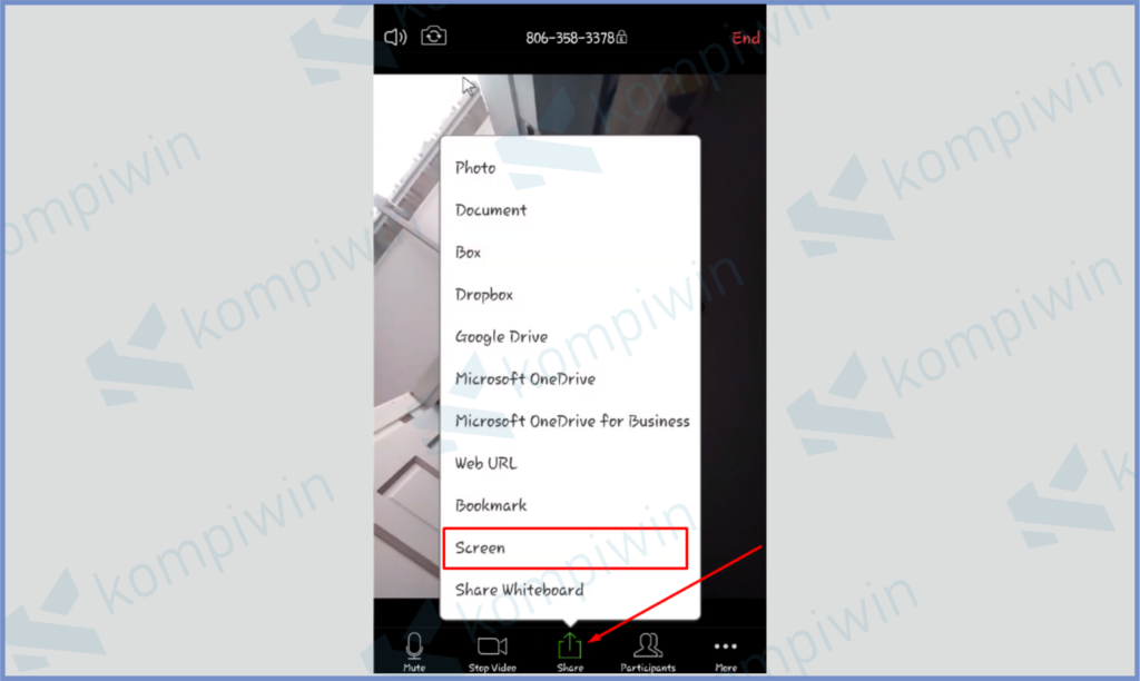 Tekan Sharing Screen Lalu Pilih Mode Screen
