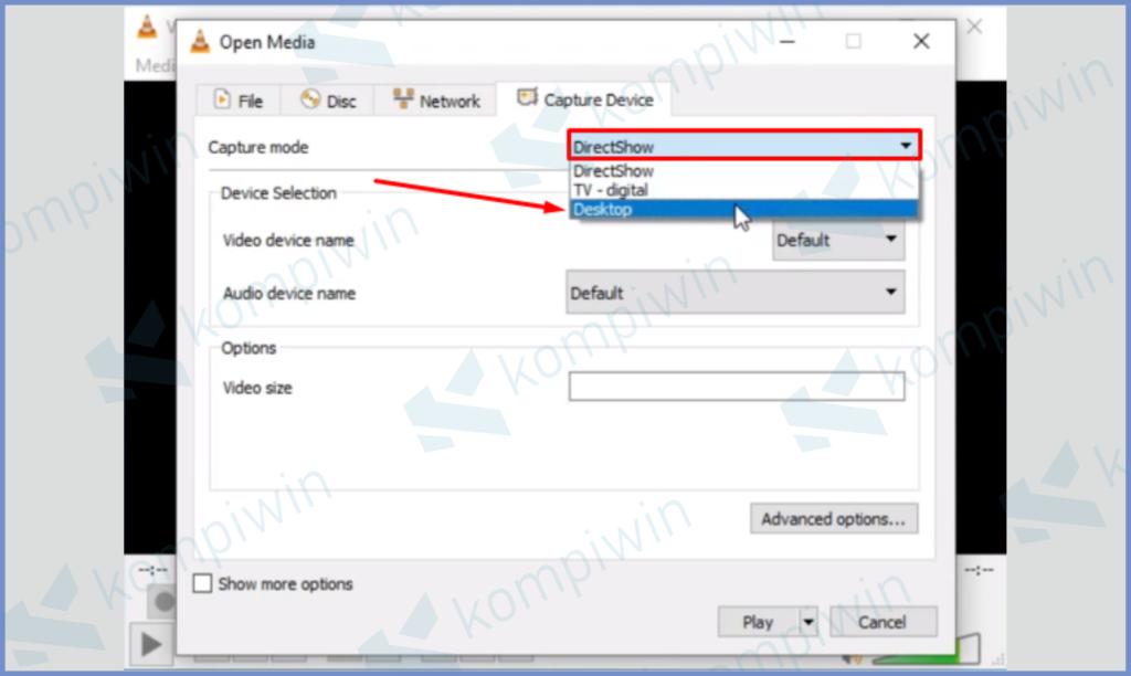 Ubah Capture Mode Menjadi Desktop