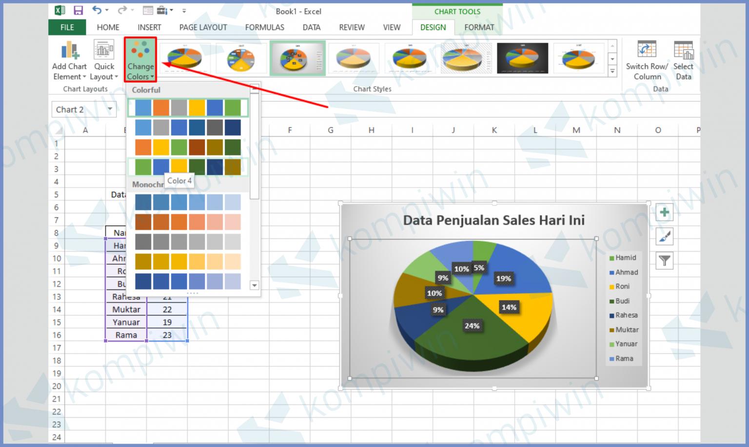 √ Cara Membuat Diagram Lingkaran Di Excel
