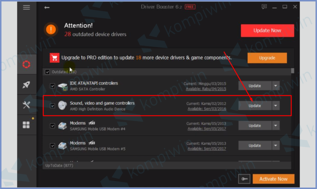Update Driver Sound, Video And Game Controllers