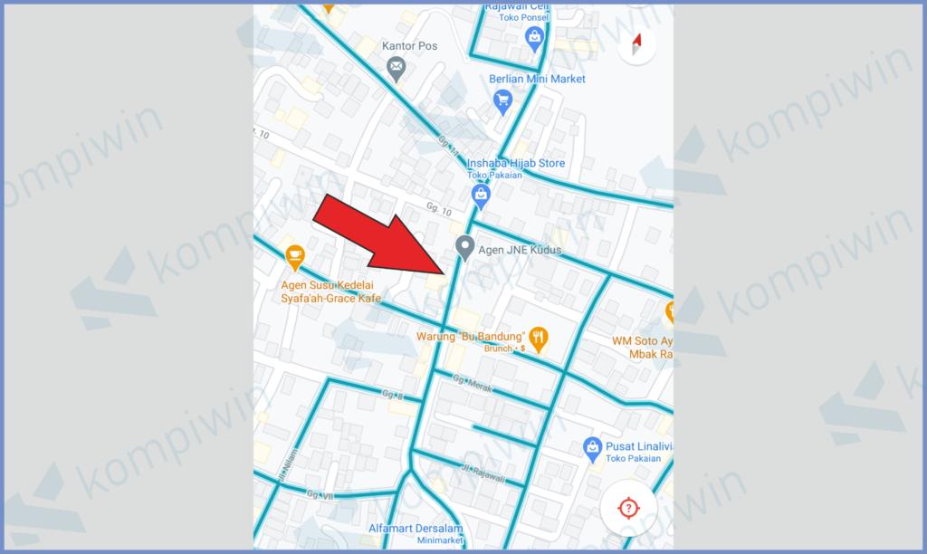 Akan Muncul Garis Warna Biru Di Rute Jalan Map