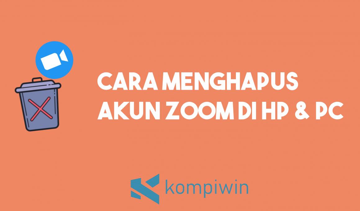 Cara Menghapus Akun Zoom (Untuk HP dan Laptop) 1