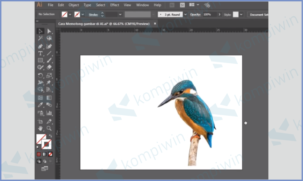 Hasil Clipping Mask
